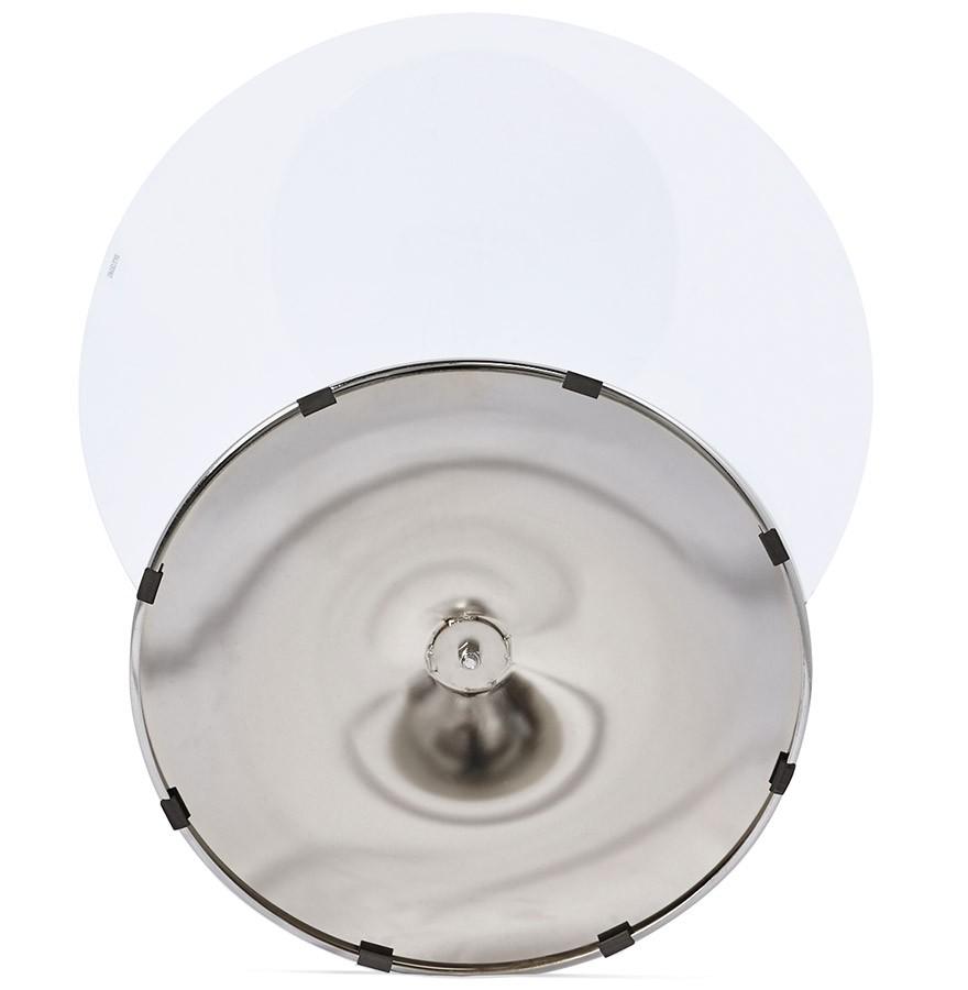 Kleine, ronde, glazen keukentafel youpi   Ø 90 cm