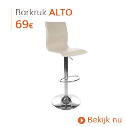 Herfst decoratie - Design barkruk ALTO uit crèmekleurig imitatieleder