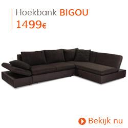 Herfst decoratie - Hoekbank BIGOU bruin
