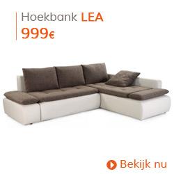 Herfst decoratie - Hoekbank LEA lichtgrijs/bruin