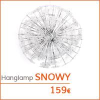 Decoratiehoek meubilair - Design hanglamp SNOWY