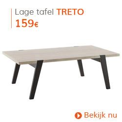 Scandinavisch - Lage eikenhouten design tafel TRETO