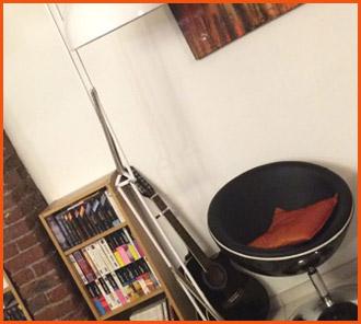 Bolvormige fauteuils - Interieurdecoratie