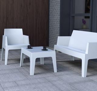 Witte tuinsalon PLEMO XL - Alterego Design