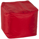 Rode bijzetpoef EASY - Alterego Design
