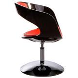 Zwarte en rode draaibare fauteuil SPACE - Alterego Design