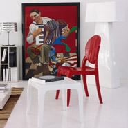 Rode ELIZA stoel - salon