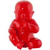 Rood decoratief beeld BABY - Alterego Design