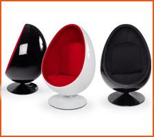 De eivormige fauteuils - Alterego Design